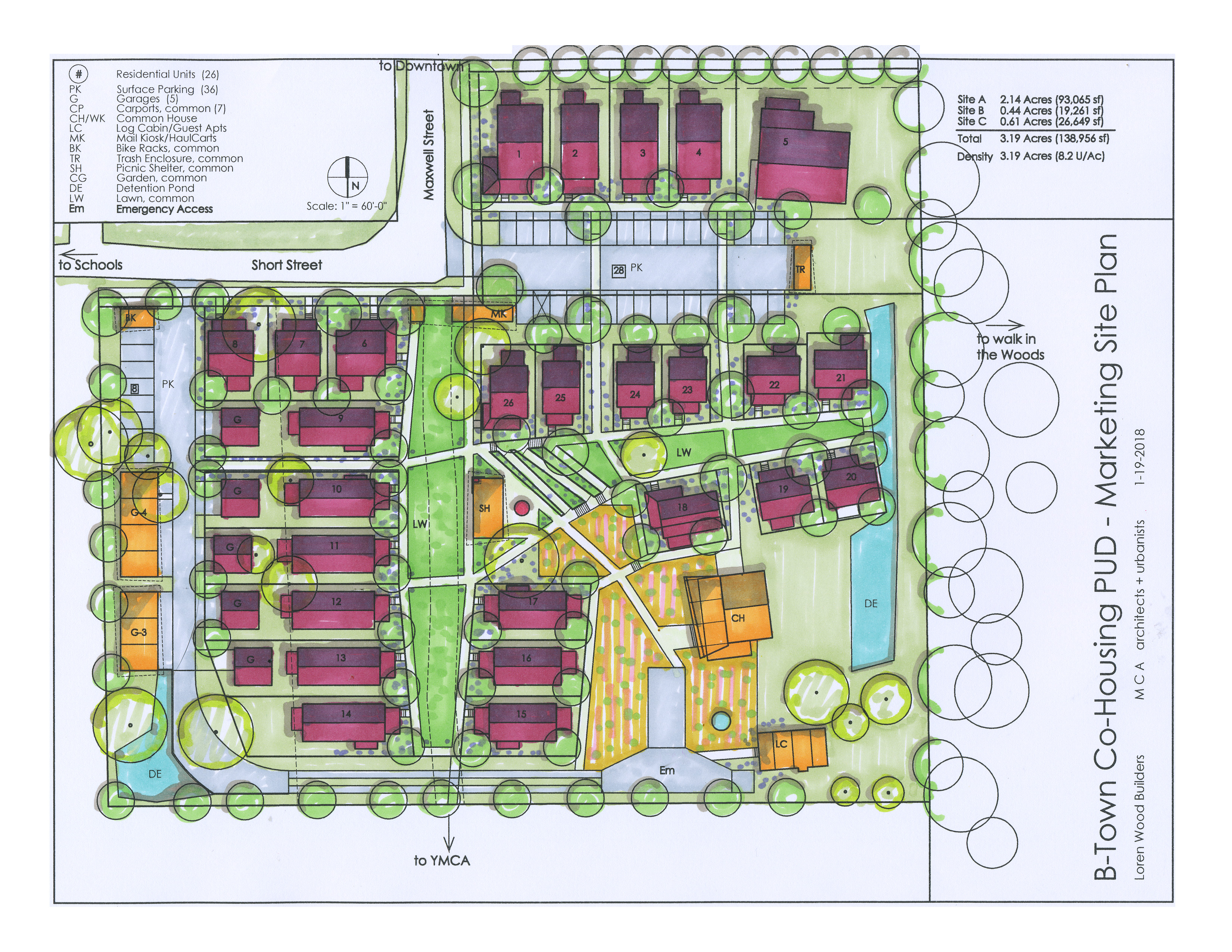 Bloomington Cohousing site plan