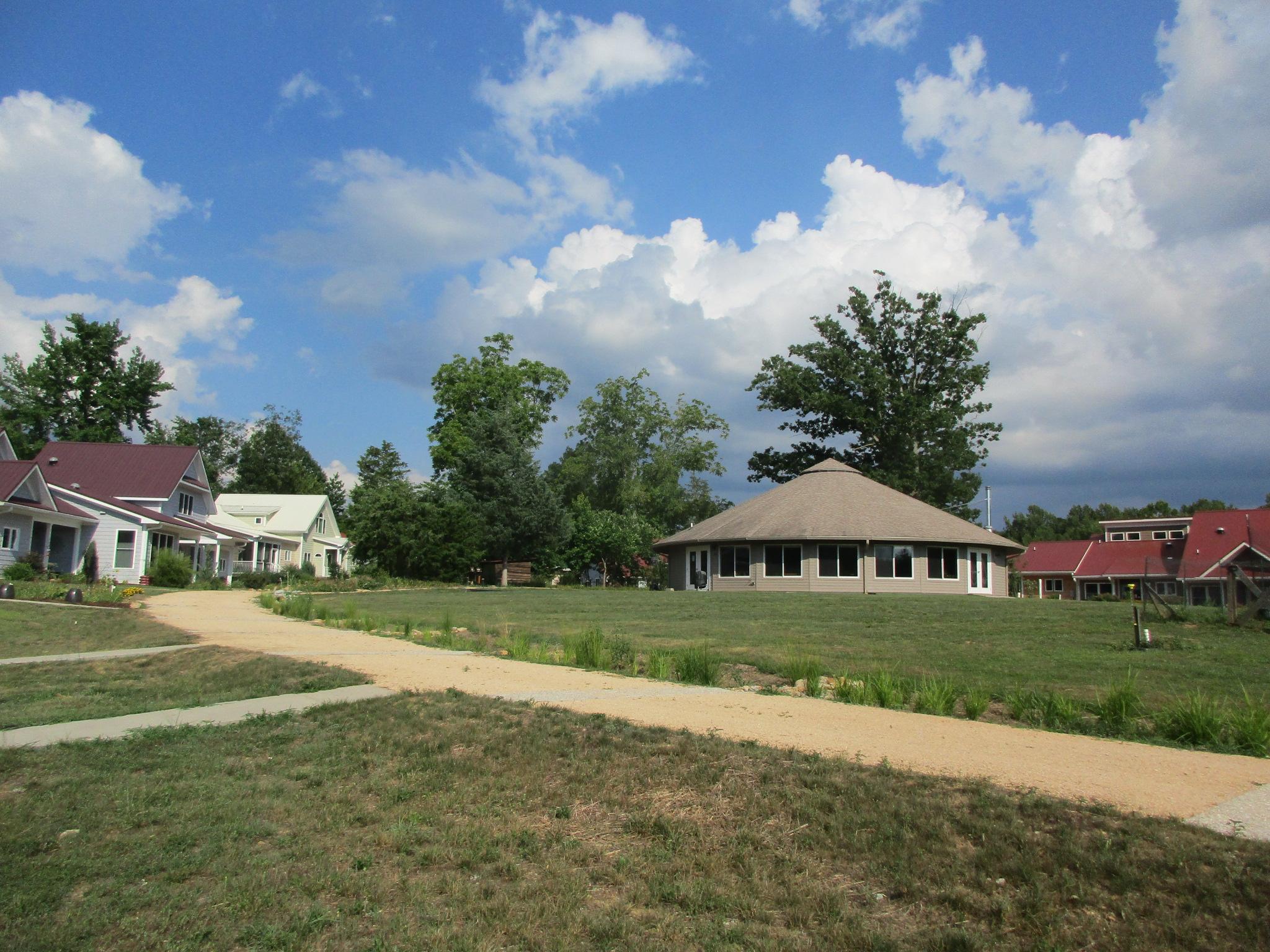 Elderberry\'s homes surround the common house.