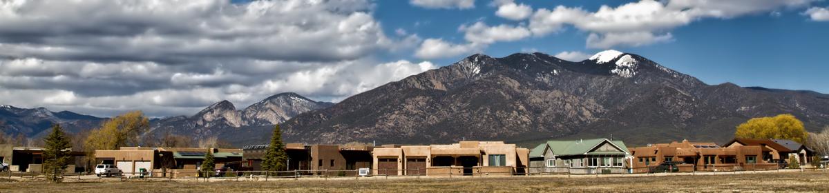 Valverde Commons under Taos Mountain